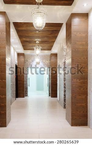 Interior of a corridor - stock photo