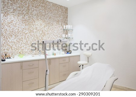 Interior of a cosmetology office - stock photo