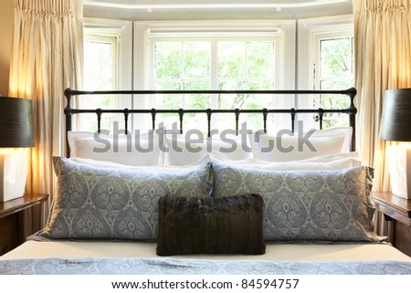 Interior of a decorative bedroom - stock photo