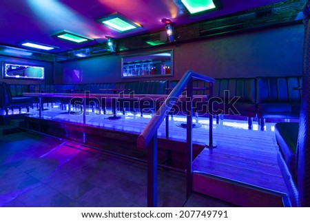 interior of a empty nightclub - stock photo