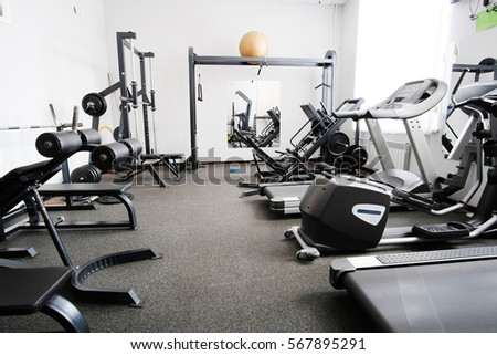 Interior of a fitness hall