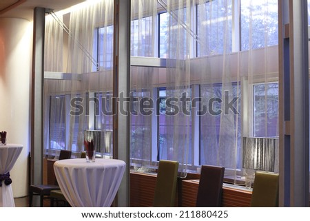 Interior of a function hall  - stock photo