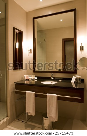 Interior of a generic bathroom - stock photo