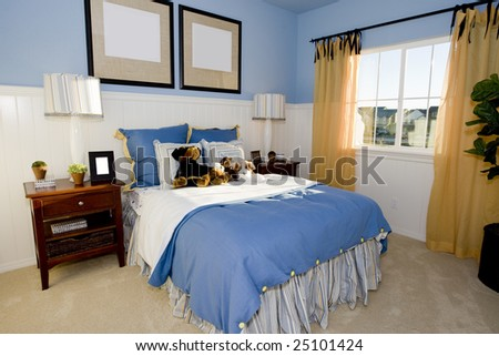 Interior of a girl's bedroom - stock photo