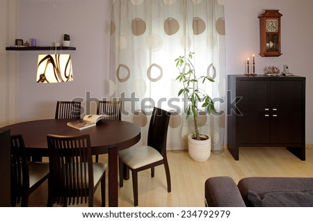 Interior of a guest room in the private house. Indoors.  - stock photo