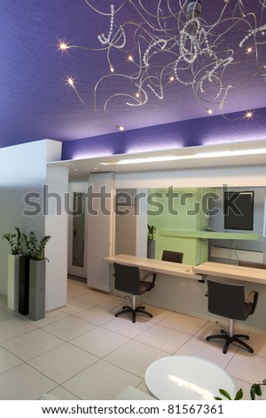 Interior of a hair studio - stock photo