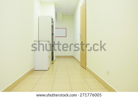 interior of a hospital hallway.  - stock photo