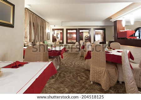 Interior of a hotel dining room  - stock photo