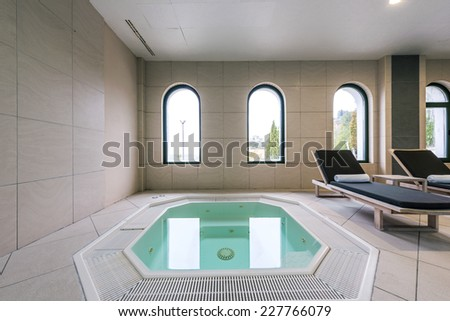 Interior of a hotel jacuzzi - stock photo