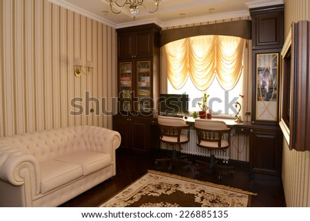 Interior of a house office, modern classics