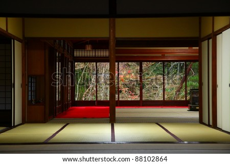 Japanese house stock images royalty free images vectors for Interior zen garden