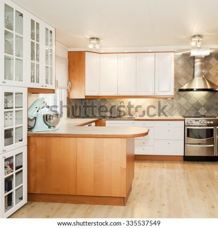 interior of a kitchen - stock photo