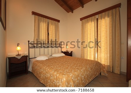 Interior of a luxurious hotel room