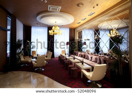 interior of a luxury cafe bar - stock photo