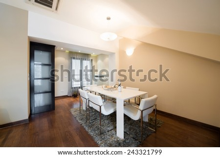 Interior of a luxury dining room - stock photo