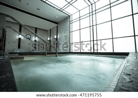 Interior of a luxury spa center