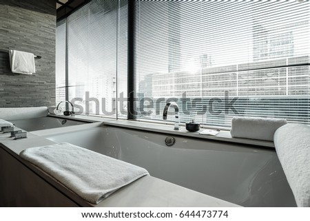 Interior Modern Bathroom Shutters Stock Photo Edit Now - Bathroom shutters interior