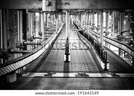 Interior of a modern brewery, equipment, tools - stock photo