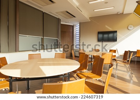 Interior of a modern bright conference room