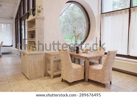Interior of a modern cafe - stock photo