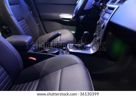 Interior of a modern car - stock photo