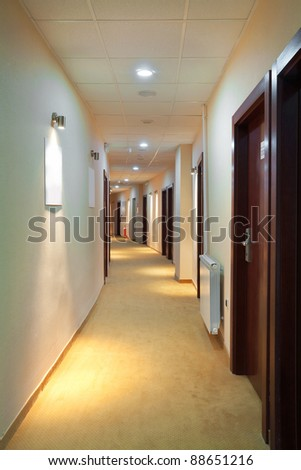Interior of a modern hotel hall. - stock photo