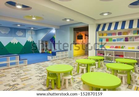 Interior of a modern kindergarten.  - stock photo