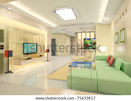Interior of a modern living room