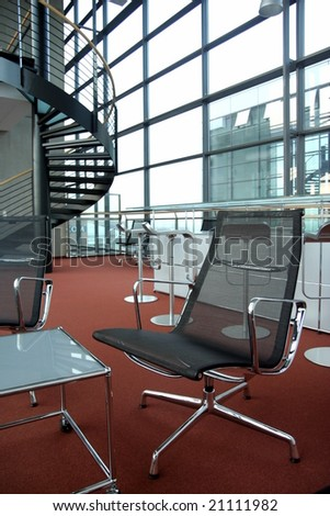 Interior of a modern office building - stock photo