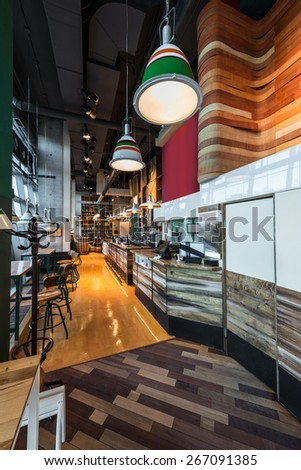 Interior of a modern restaurant  - stock photo