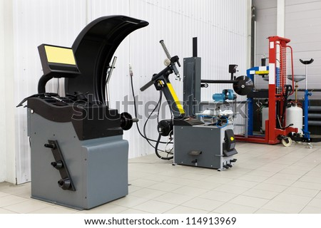 Interior of a mounting workshop - stock photo