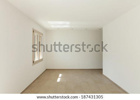 Interior of a new empty house, room view