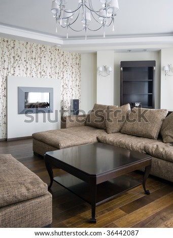 Interior of a new living room