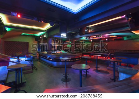 Interior of a night club  - stock photo