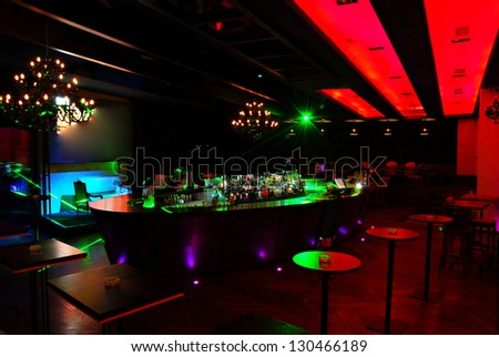 interior of a nightclub - stock photo
