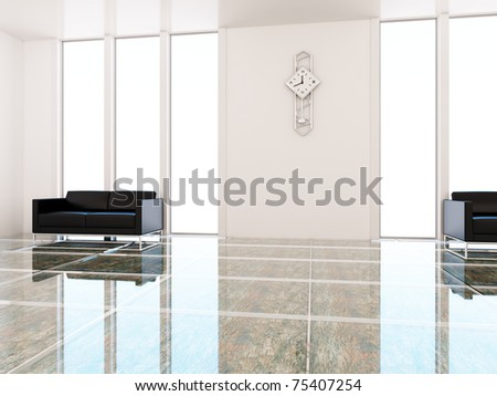 Interior of a place of expectation - stock photo