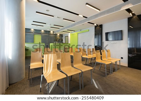 Interior of a room for presentations
