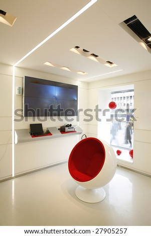 interior of a room for presentations - stock photo
