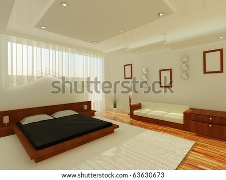 Interior of a sleeping room - stock photo