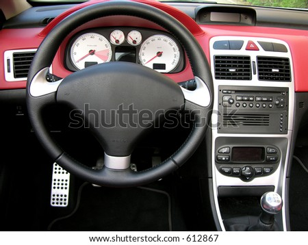 Interior Of A Sport Car