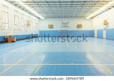 Interior of a sport games hall - stock photo