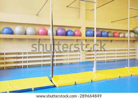 Interior of a sport hall - stock photo