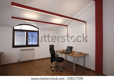 interior of a study room