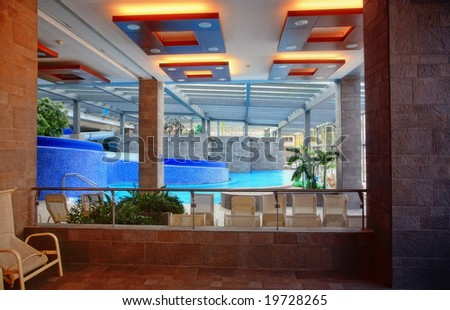 Interior of a swimming pool - stock photo