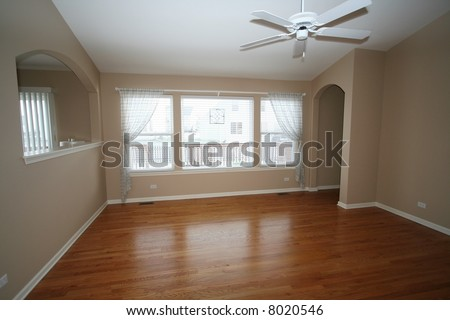 Interior of an empty living room