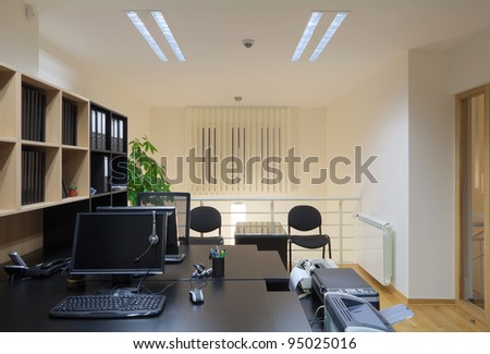 Interior of an office, modern and simple design. - stock photo