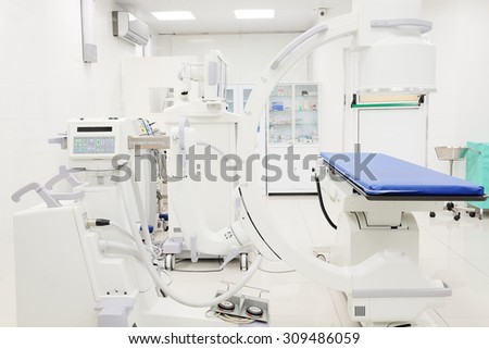 Interior of an operation room  - stock photo