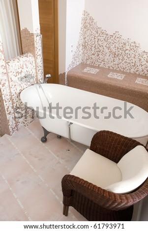 interior of bathroom - stock photo