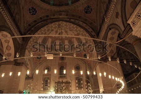 Interior of Bayezid Mosque, istanbul