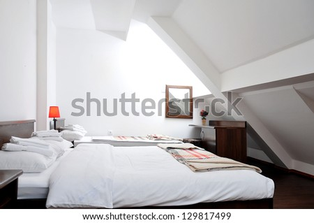 Interior of Bedroom - stock photo